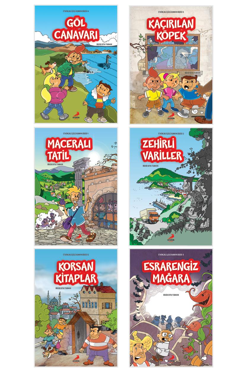 Etkinlikli Çizgi Roman Serisi 6 Kitap