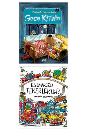 Eğlenceli Masallar-Mauri Kunnas Set(Eğlenceli Tekerlekler + Gece Kitabı)