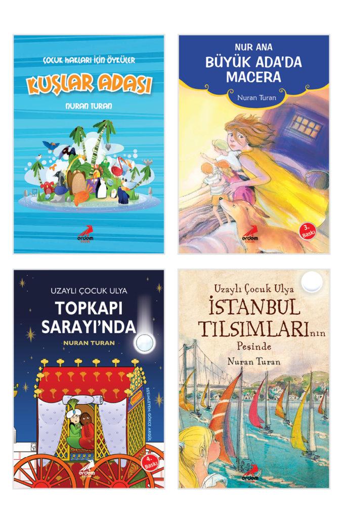 Nuran Turan Kitapları (Uzaylı Çocuk Ulya Topkapı Sarayında – Uzaylı Çocuk Ulya İstanbul Tılsımlarının Peşine – Kuşlar Adası – Nur Ana)