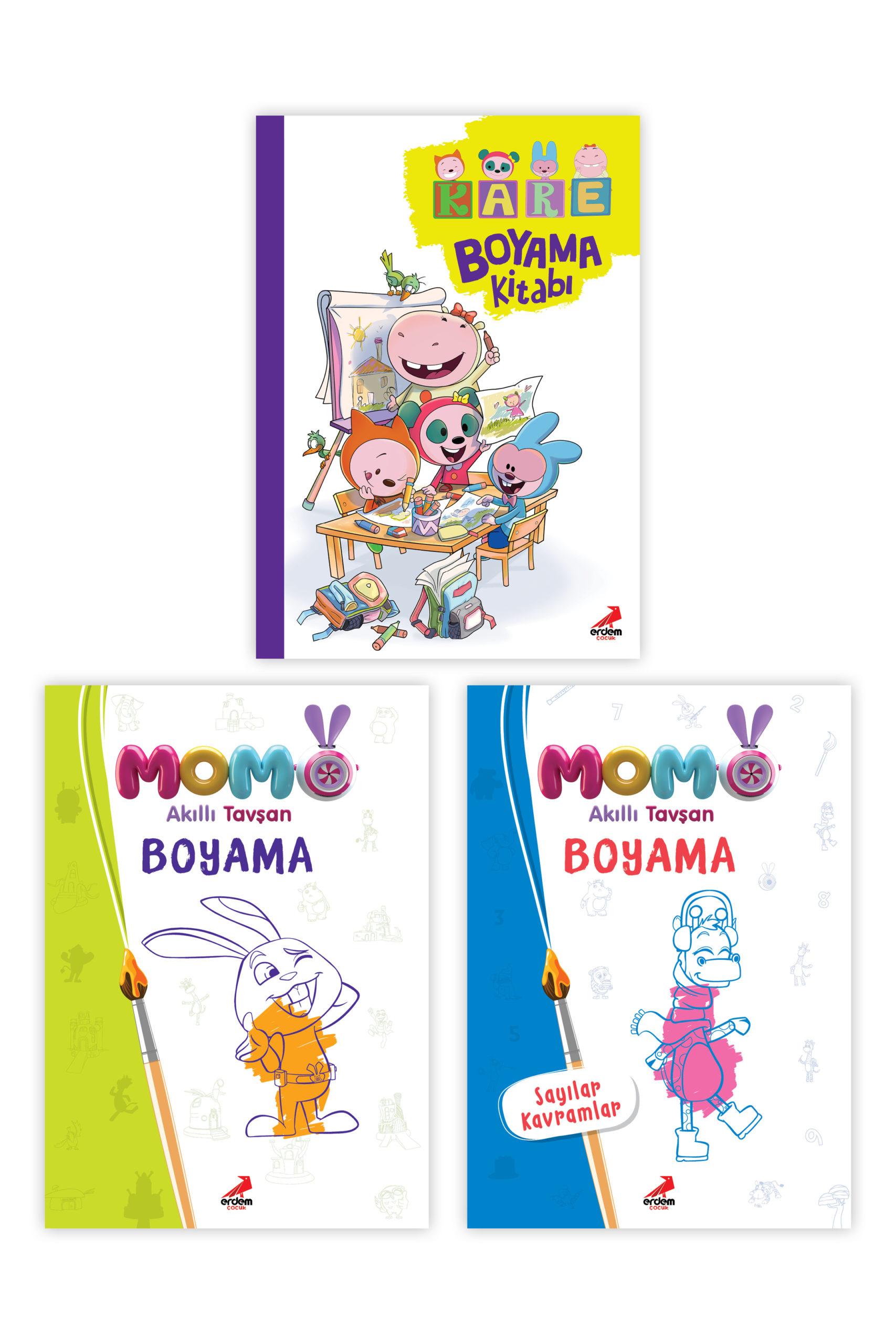 Momo ve Kare Takımı Boyama ( 3 Kitap )