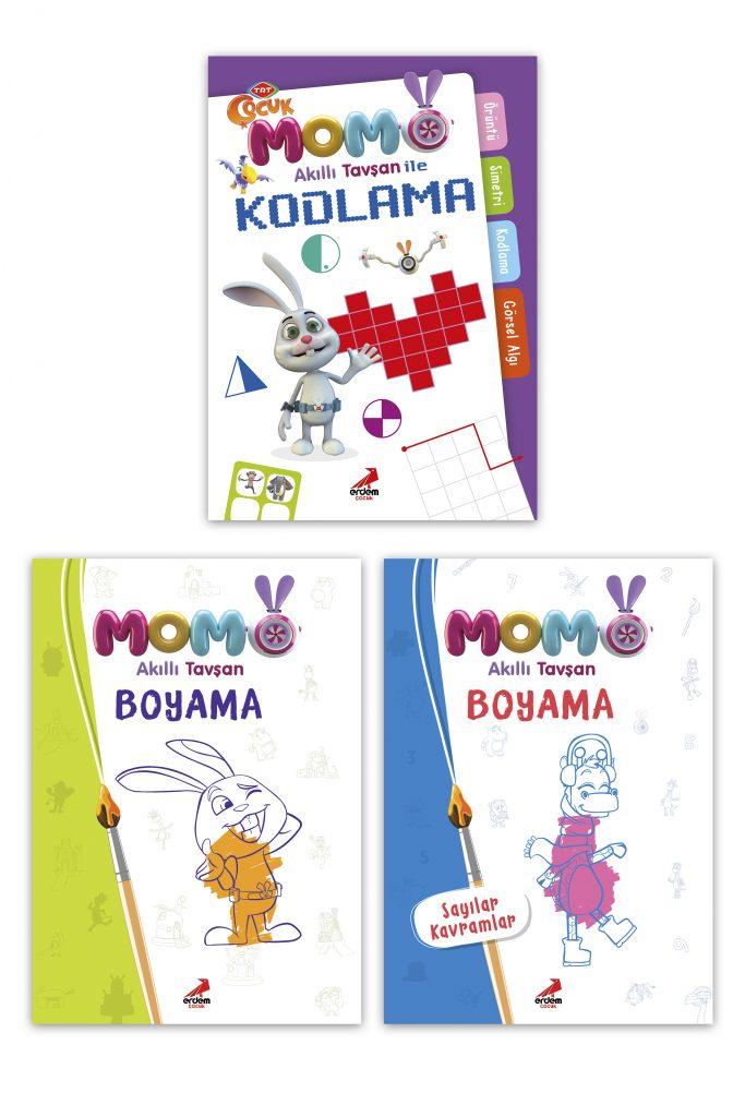Momo Kodlama-Momo Boyama Seti 3 Kitap