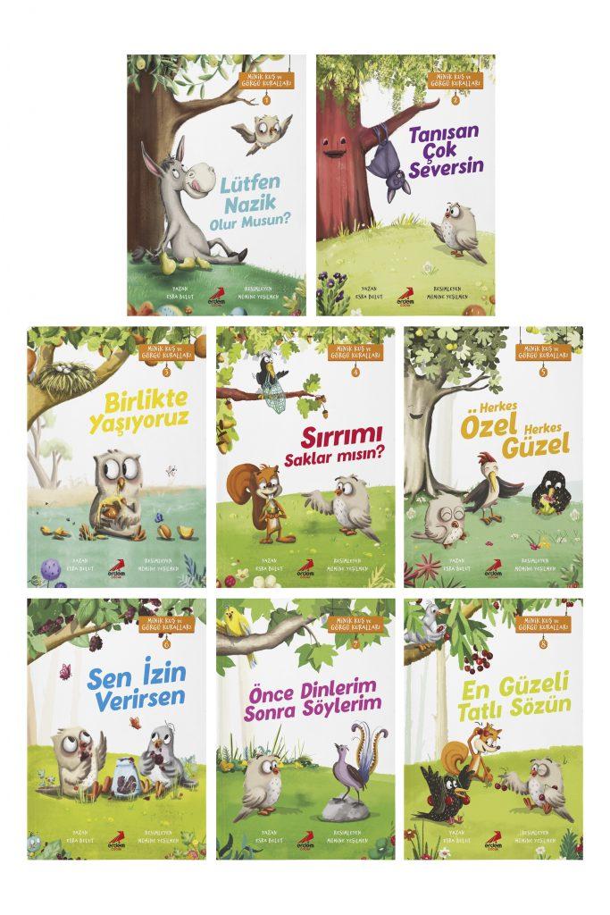 Minik Kuş ve Görgü Kuralları-8 Kitap